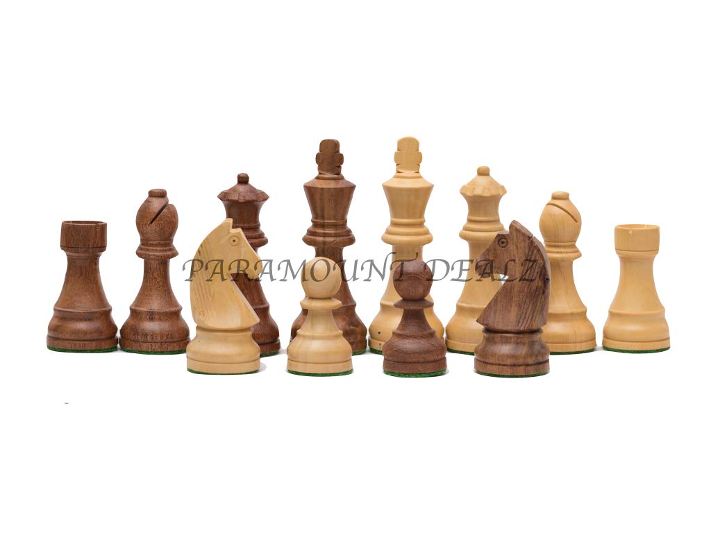 FIDE Standard 3.75 Inch King Height-Collector Edition Wooden Chess (Staunton Pieces/Drawstring pouch)