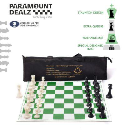 Vinyl Chess board Mat Roll up