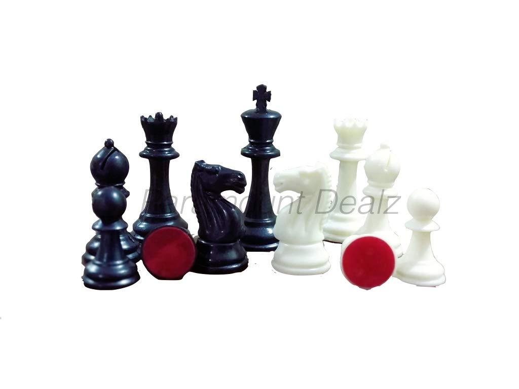 "Tournament Chess Set - 17"" x 17"" Vinyl Mat, 2 Extra Queens and Chess Bag (Green & White)"