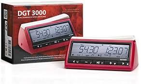 DGT 3000 Chess Clock with scorebook, velvet pouch & Pen