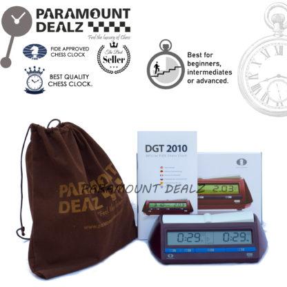 Official DGT 2010 Digital Chess Clock with scorebook & Metallic Pen