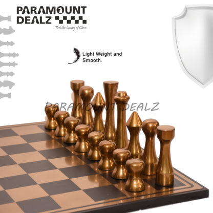 St. Petersen styled Aluminium Chess Set - Best for chess enthusiasts and players