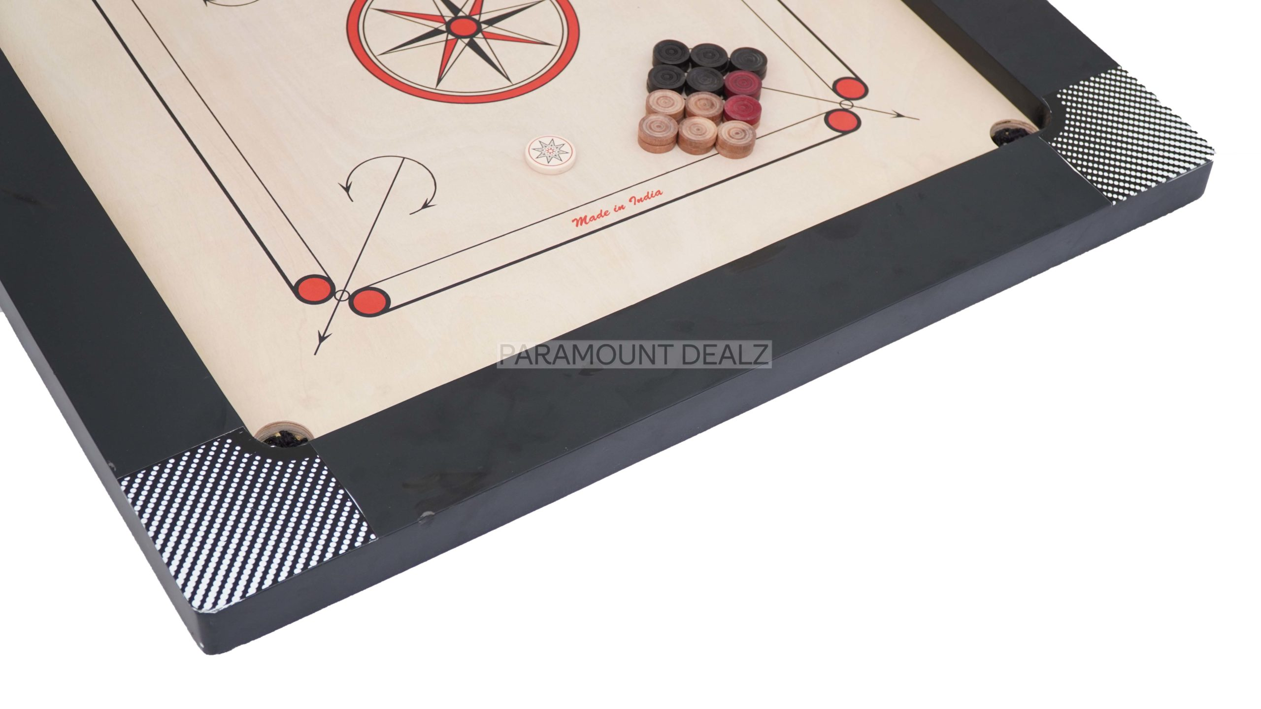 THOR SERIES PROFESSIONAL CARROM BOARD WITH CARROM COINS AND STRIKER (ADD ONS) - TOURNAMENT STANDARD