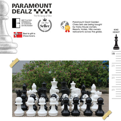 """16"""" Large Premium Giant Garden Chess Pieces Set ( King Height : 16 Inches)"""