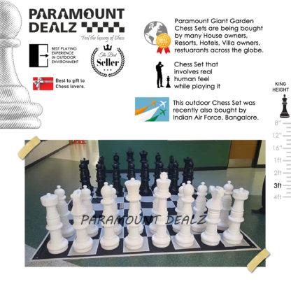 3 Feet (36 Inches) Plastic Giant Garden Chess Set