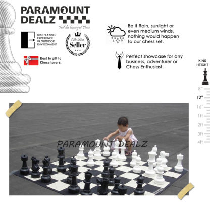 1 Feet (12 Inches) Plastic Giant Chess Set
