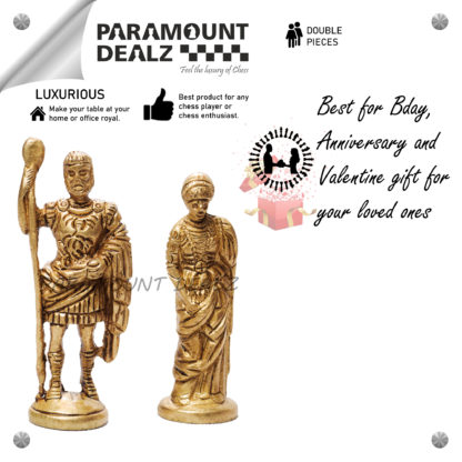 Brass Paper weight (King & Queen) - Best for gifting to your loved ones on Bdays, Anniversaries or Any occasion