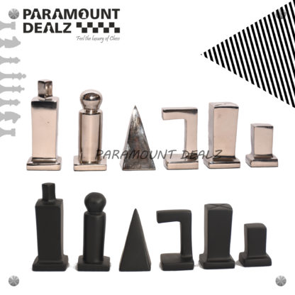 Fischer series Aluminium Chess Set - Best for chess enthusiasts and players (Silver & Black)