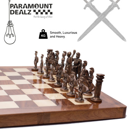 Foldable Handcrafted Brass Chess Set - Best for chess enthusiasts and players