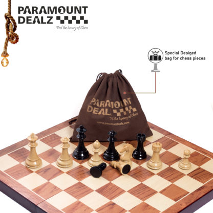 """24"""" EXTRA LARGE Wooden Chess Board with Ceramic Chess pieces"""