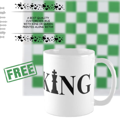 Gift for Him - Personalized Vinyl Chess Set (Print your name, logo or picture on chess set)