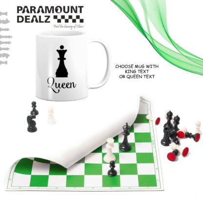 Gift for Her - Personalized Vinyl Chess Set (Print your name, logo or picture on chess set)