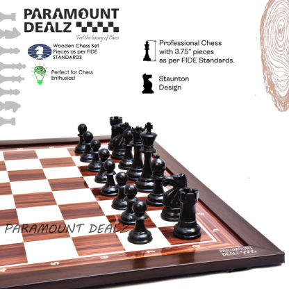 """21"""" Wooden Laminated Chess Board ONLY (Without Chess Pieces)"""