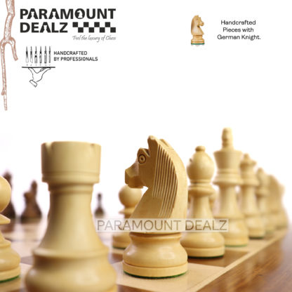 Grand Master Square Cornered Edition 21 inches Wooden chess board (Sheesham wood & Maple wood)  (ONLY BOARD - without chess pieces)