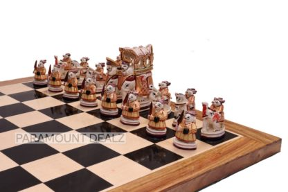 """Paramount Dealz Royal Maharaja Handmade Chess Board Game Set - 21"""" Wooden Chess Board with 4"""" King Size Height Maharaja Pieces and Chess Box"""
