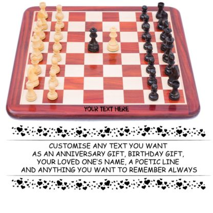 """Paramount Dealz Personalized Chess Board Game Set - Flat Design 21"""" Wooden Chess Board with Algebraic Notations with 34 Staunton Style Wooden 3.75"""" Chess Pieces with 2 Extra Queens"""