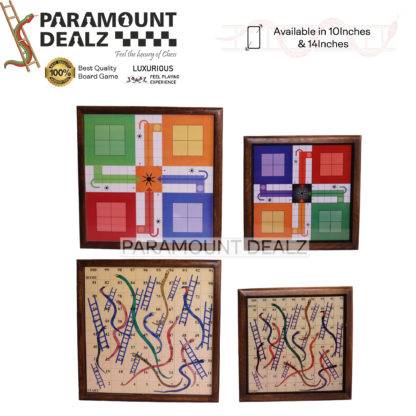 Handmade Magnetic Wooden Classic Snakes and Ladders Travel Board Game