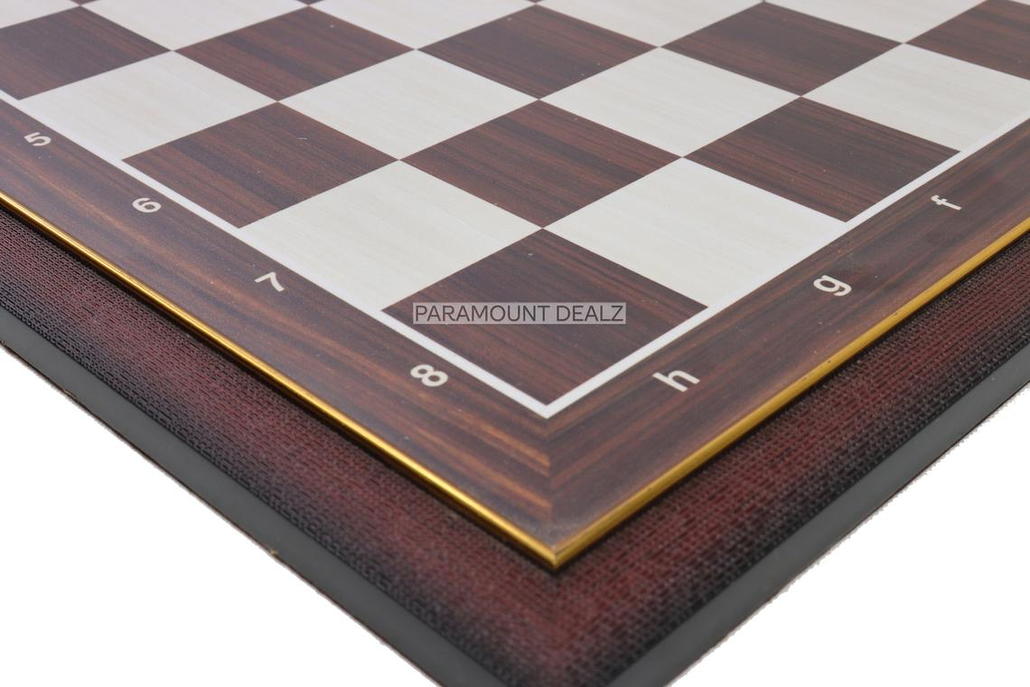 """Wooden Laminated 21"""" Chess Board Game Set - Handcrafted with 3.75"""" Wooden Chess Pieces"""