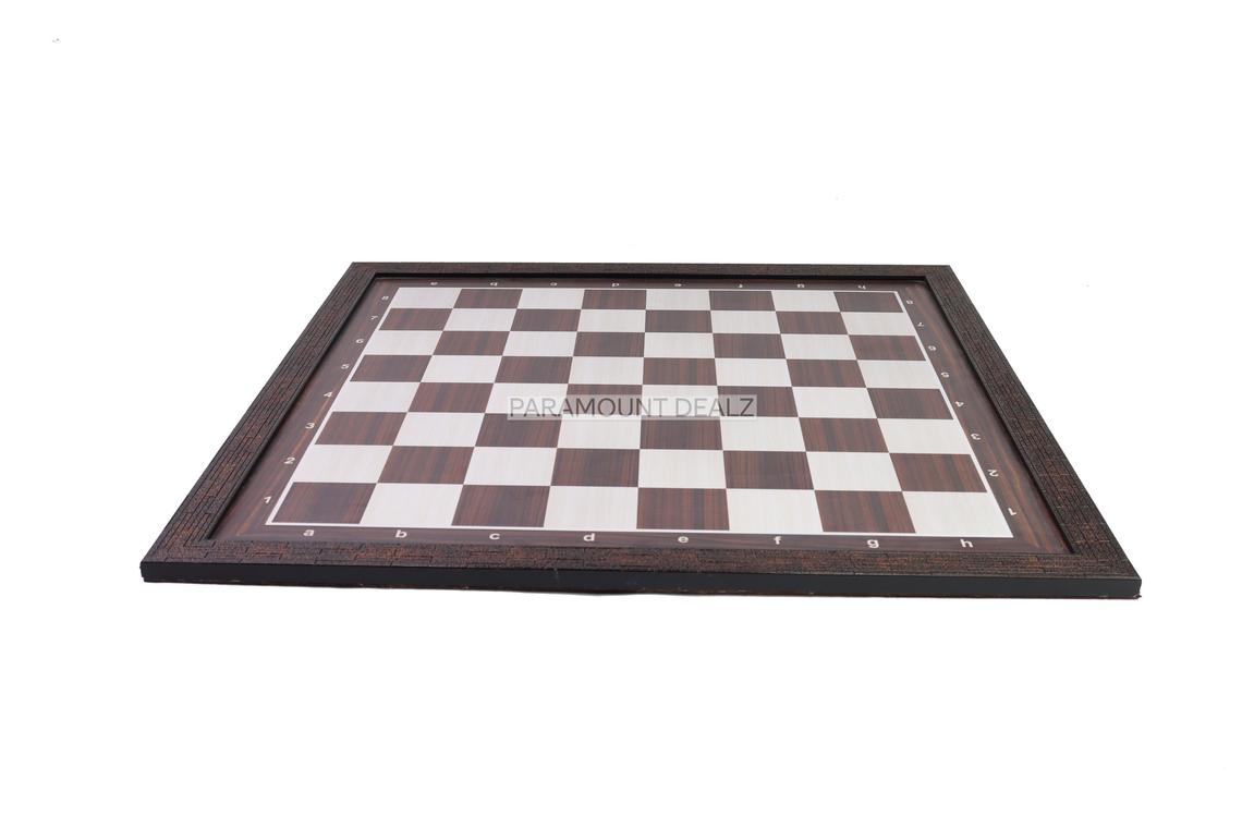 """Wooden Laminated 21"""" Chess Board Game Set - Handcrafted with 3.75"""" Wooden Chess Pieces and Chess Carry Bag - Made from Premium Sheesham, Maple and Golden Rosewood Wood"""