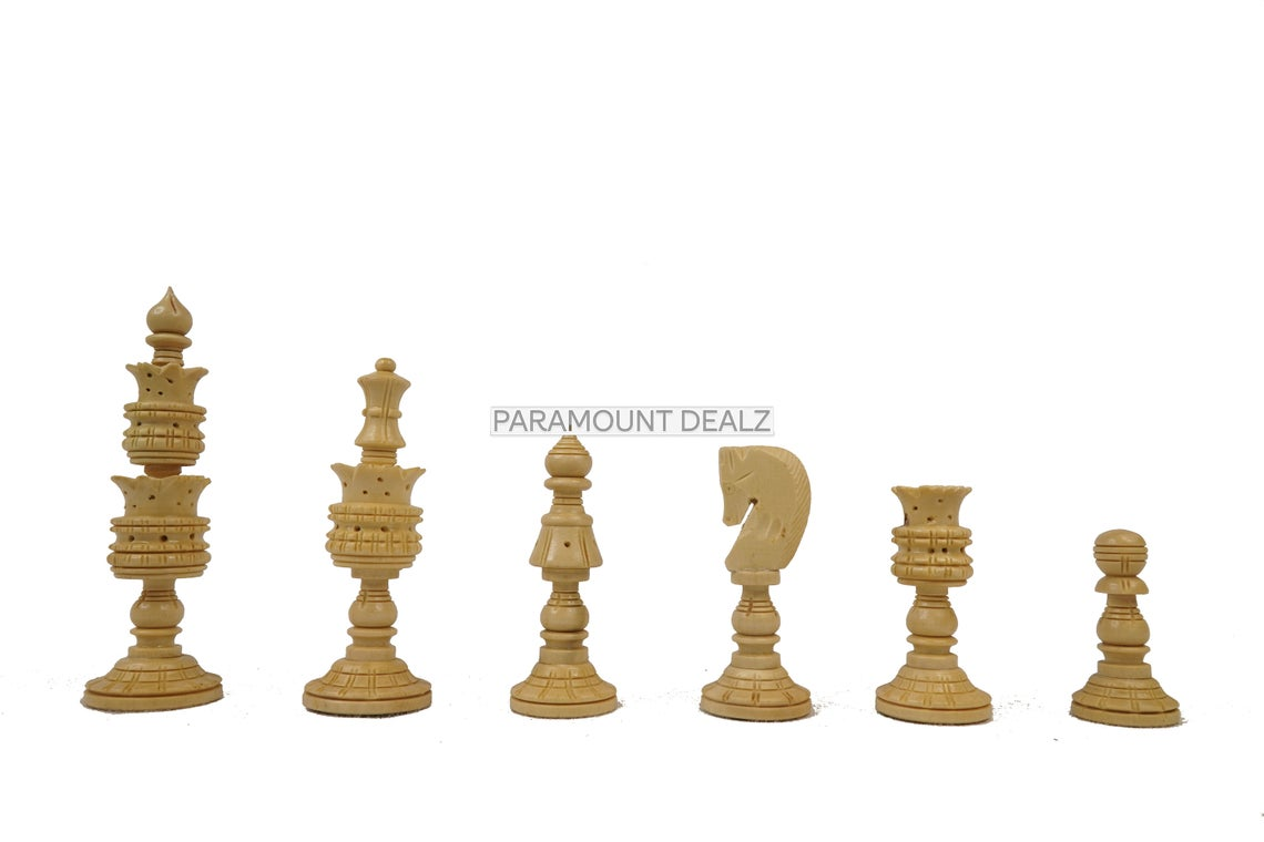 """Wooden Laminated 21"""" Chess Board Game Set  with 3.75"""" Wooden Chess Pieces"""