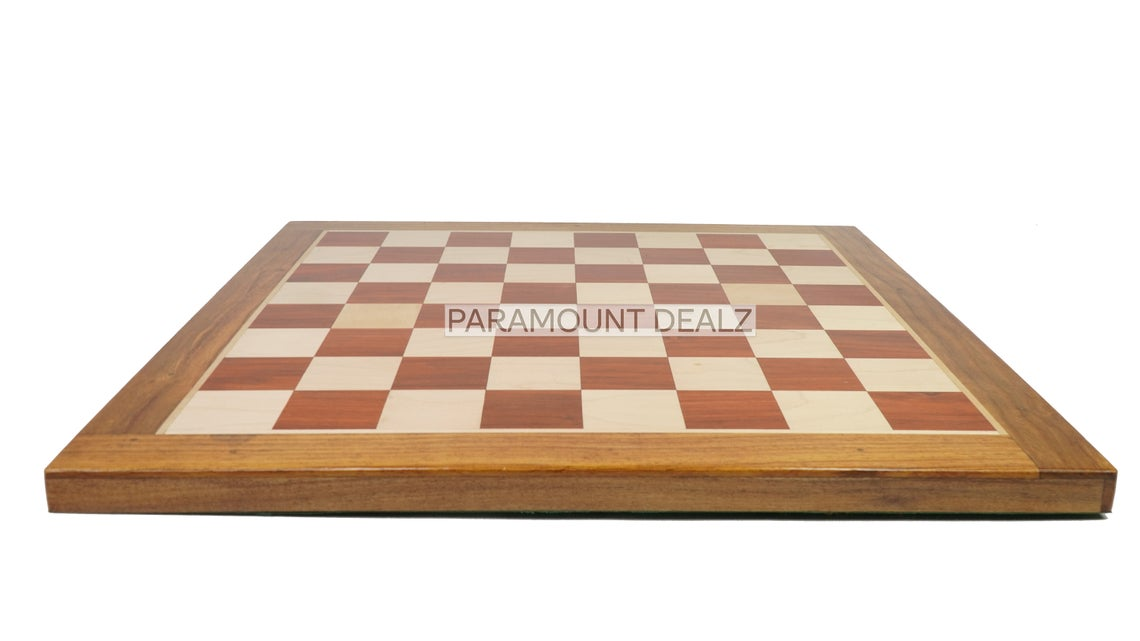 """19"""" Superior Finish Wooden Chess Board Game with Russian Chess Pieces   Made from Premium Quality Indian Rosewood, Box Wood and Maple Wood"""
