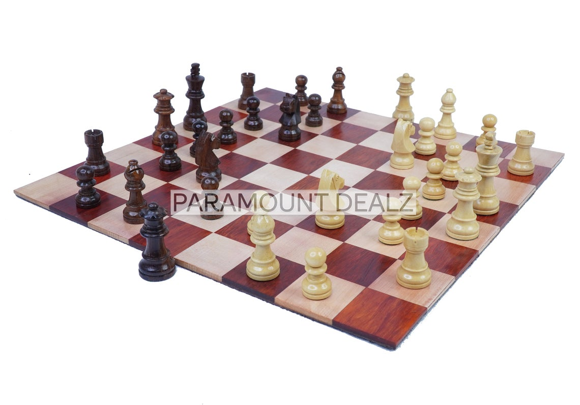 """12.5"""" Personalized Queen Gambit Roll Up Wooden Chess Board Game (ONLY BOARD WITHOUT PIECES)   Made from Premium Quality Indian Rosewood and Maple Wood"""