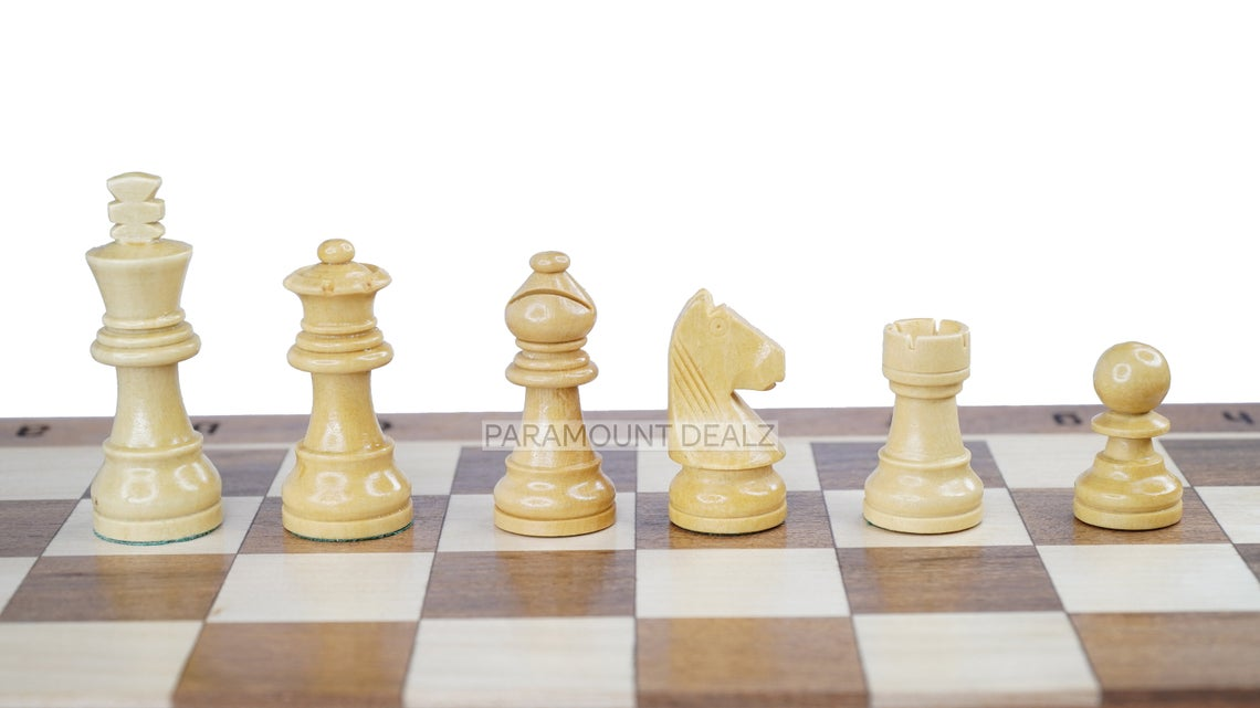 12 Inches Handcrafted Magnetic Foldable Wooden Handcrafted Chess Set Chess Board with handcrafted wooden magnetic chess pieces (Indian Rosewood & Maple wood)