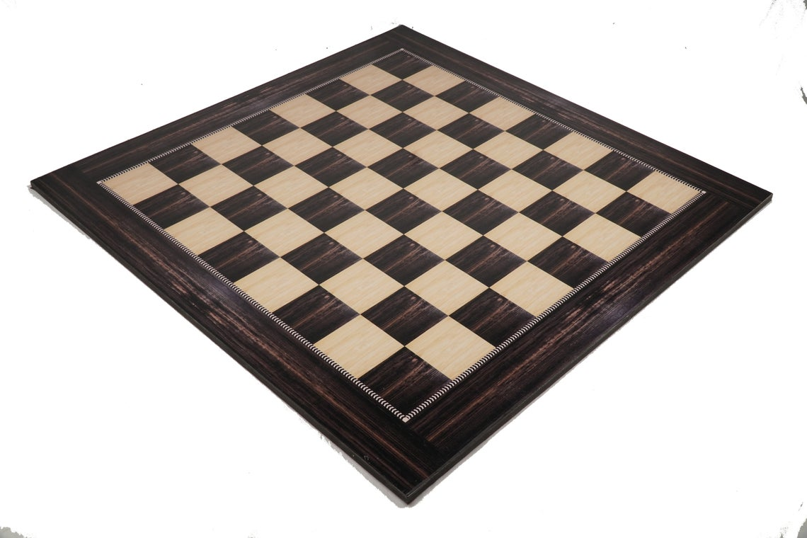 """19"""" Wooden Laminated Chess Board Game with 3.75"""" Staunton Style Wooden Chess Pieces    Made from Premium Quality Engineering Wood"""