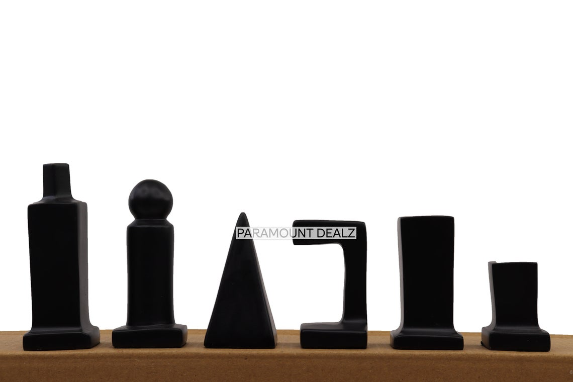 Vintage Collection Handcrafted Solid Aluminium Metal 32 Chess Pieces Set with Wooden Chess Pieces Box (Without Chess Board)