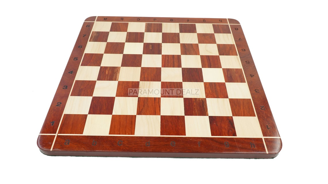 """21"""" Wooden Chess Board with Free Chess Bag - Handcrafted by Bud Rosewood and Maple Wood (Personalized Option Available)"""