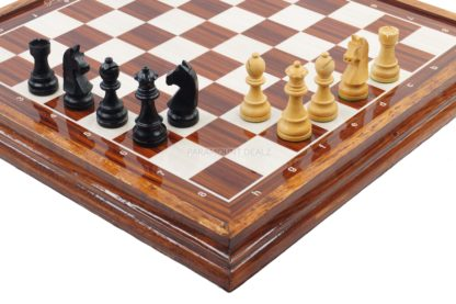 """WOODEN LUXURIOUS CHESS TABLE WITH 21"""" WOODEN LAMINATED BOARD (SOLID WOODEN FRAME) & WOODEN CHESS PIECES"""