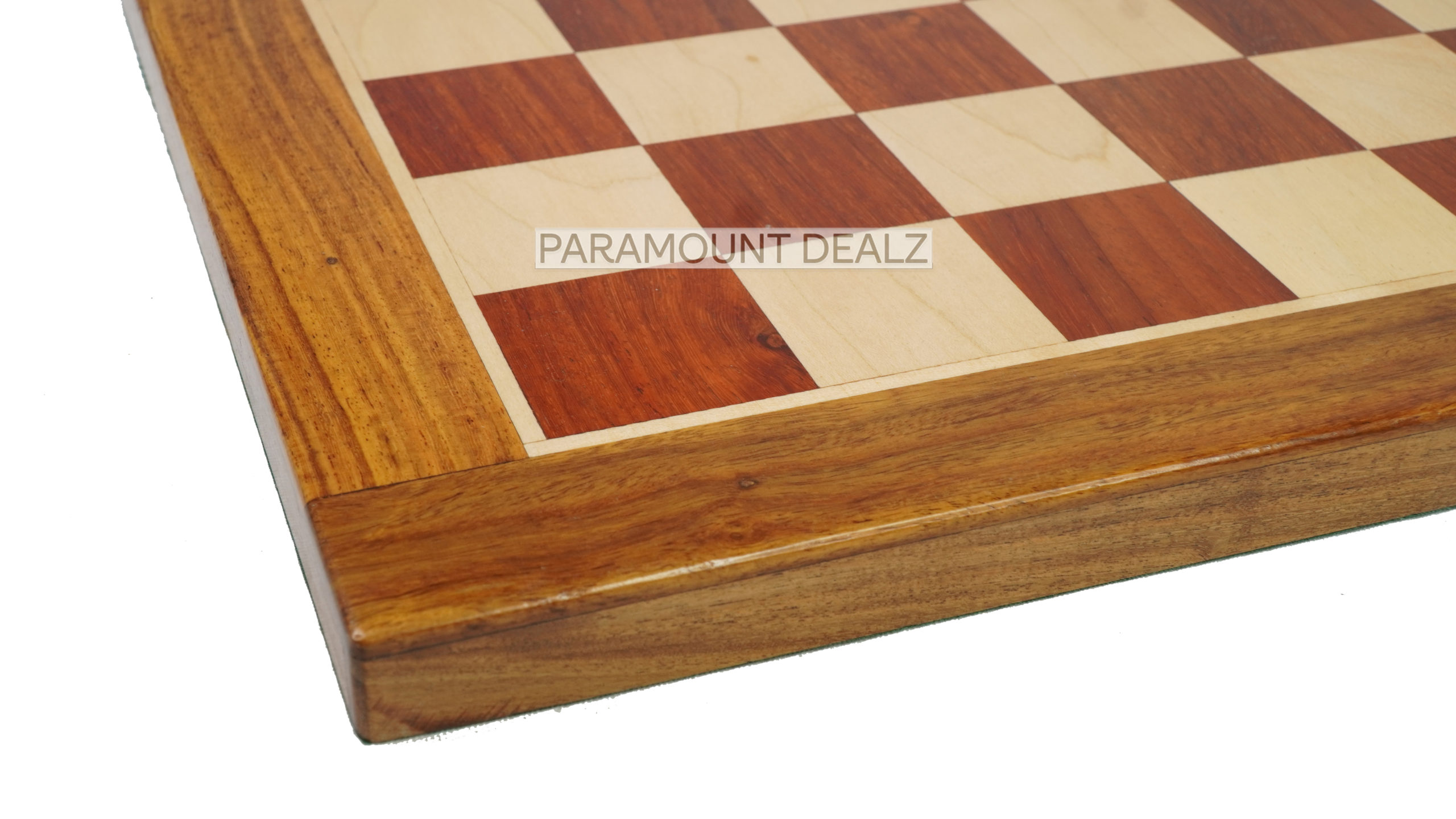 """19"""" Wooden Chess Board with Free Chess Bag - Handcrafted by Bud Rosewood, Sheesham wood and Maple Wood"""